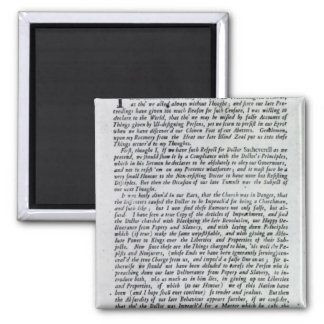 The Captain of the Mobs Declaration 2 Inch Square Magnet