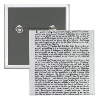 The Captain of the Mobs Declaration 2 Inch Square Button