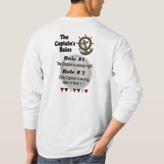 The Captain's Rules - long sleeve Men's T-shirt