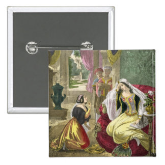 The Captive Hebrew Maid that Waited on Naaman's Wi Pinback Button
