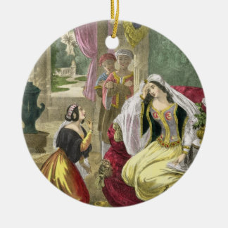 The Captive Hebrew Maid that Waited on Naaman's Wi Ceramic Ornament