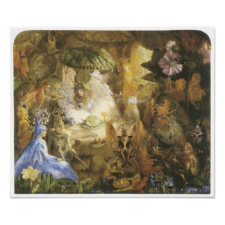 The Captive Robin, Vintage Fairy Painting Poster