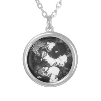 The Captivity is as Barbarous the Crime Francisco Silver Plated Necklace