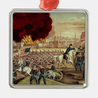The Capture of Atlanta by the Union Army Metal Ornament