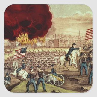 The Capture of Atlanta by the Union Army Square Sticker