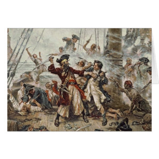 The Capture of Blackbeard Greeting Card