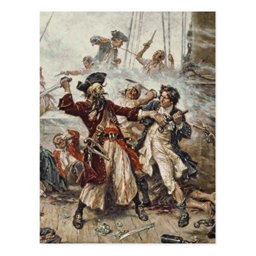 The Capture of Blackbeard Post Card