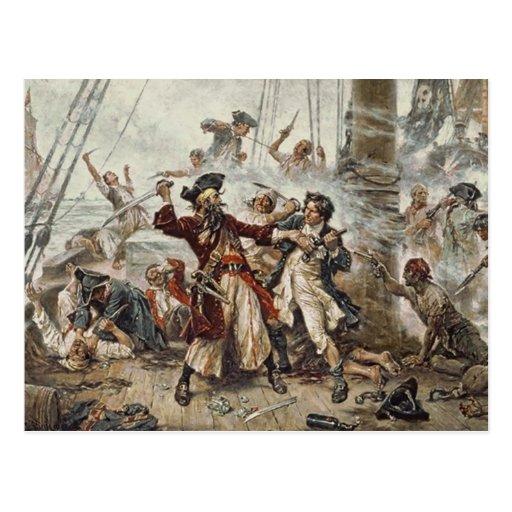 The Capture of Blackbeard Post Cards