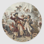 The Capture of Blackbeard Round Sticker