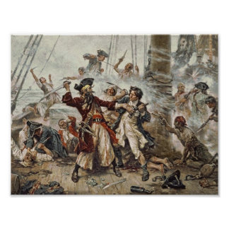 The Capture of Blackbeard The Pirate Poster