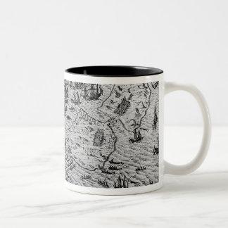 The Capture of Cadiz, 21 June 1596 Two-Tone Coffee Mug