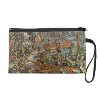 The Capture of Constantinople in 1204 (oil on canv Wristlet Clutches