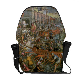 The Capture of Constantinople in 1204 (oil on canv Messenger Bags