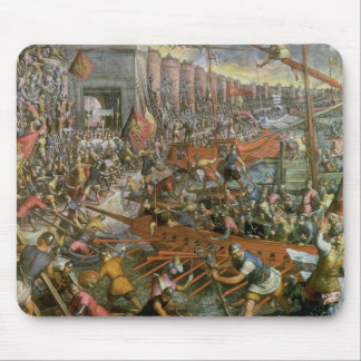 The Capture of Constantinople in 1204 (oil on canv Mouse Pad