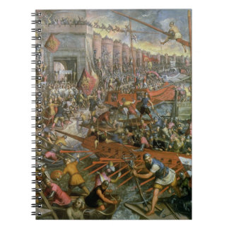 The Capture of Constantinople in 1204 (oil on canv Notebook