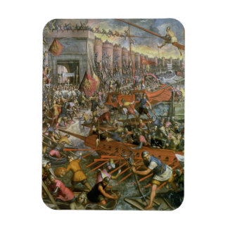 The Capture of Constantinople in 1204 (oil on canv Rectangle Magnets