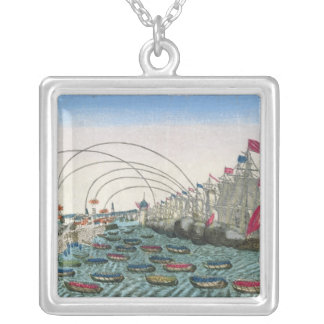 The Capture of Havana by the English in 1762 Silver Plated Necklace