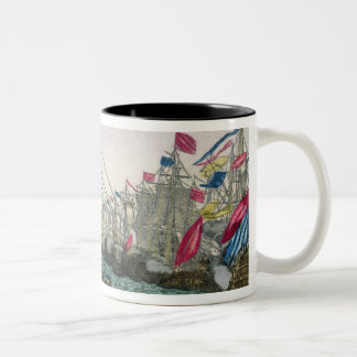 The Capture of Havana by the English in 1762 Two-Tone Coffee Mug