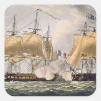 The Capture of La Clorinde, February 26th 1814, en Square Sticker