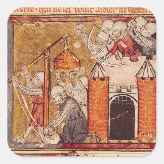 The Capture of Rouen, Grandes Chroniques de Square Sticker