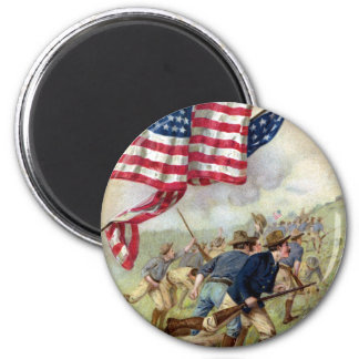 The Capture of San Juan Hill 2 Inch Round Magnet