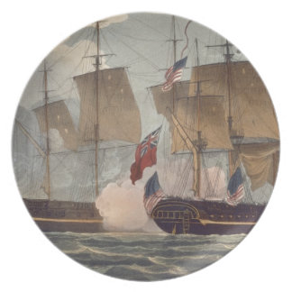 The Capture of the Chesapeake, June 1st 1813, engr Dinner Plate