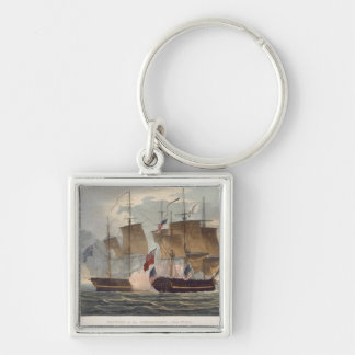 The Capture of the Chesapeake, June 1st 1813, engr Keychain