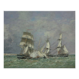 The Capture of the 'Petit Rodeur', 1878 (oil on ca Poster