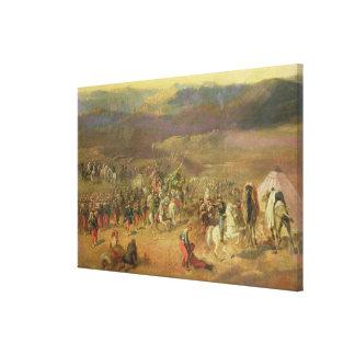 The Capture of the Retinue of Abd-el-Kader Canvas Print