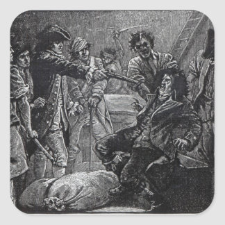 The Capture of Wolfe Tone in 1798 Square Sticker