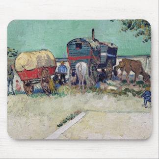 The Caravans, Gypsy Encampment near Arles, 1888 Mouse Pad