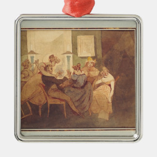 The Card Game, after 1830 Metal Ornament