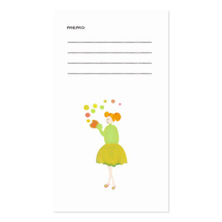 The card of the girl who roundly is made Double-Sided standard business cards (Pack of 100)
