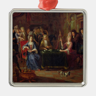 The Card Players, 1699 Metal Ornament