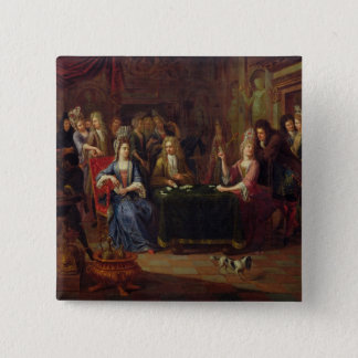 The Card Players, 1699 Pinback Button