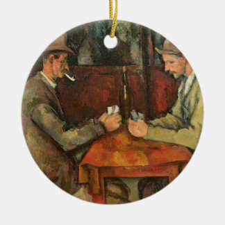 The Card Players, 1893-96 Ceramic Ornament