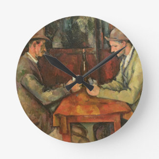 The Card Players, 1893-96 Round Wall Clocks