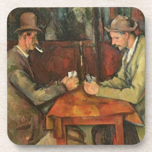 The Card Players, 1893-96 Drink Coaster