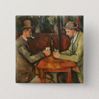 The Card Players, 1893-96 Pinback Button