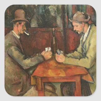 The Card Players, 1893-96 Square Sticker