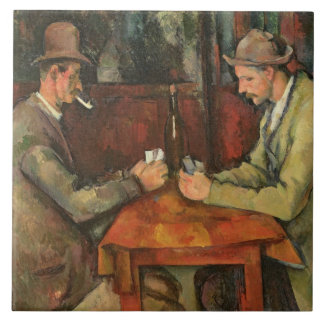 The Card Players, 1893-96 Tile