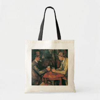 The Card Players by Cezanne Vintage Impressionism Tote Bag