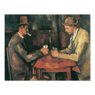 """The Card Players by Cezanne, Vintage Impressionism 4.25"""" X 5.5"""" Invitation Card"""