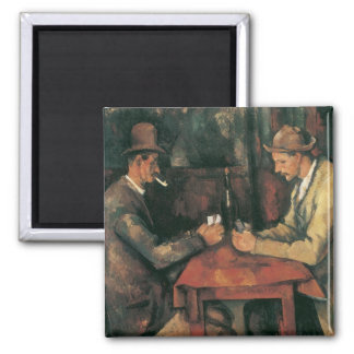 The Card Players by Cezanne, Vintage Impressionism Refrigerator Magnets