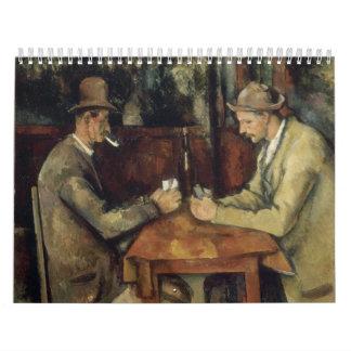 The Card Players by Paul Cézanne 1895 Wall Calendar