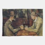 The Card Players by Paul Cézanne 1895 Kitchen Towels