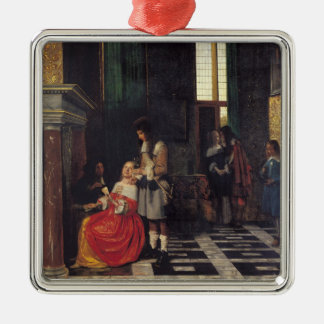 The Card Players, c.1663-65 Metal Ornament