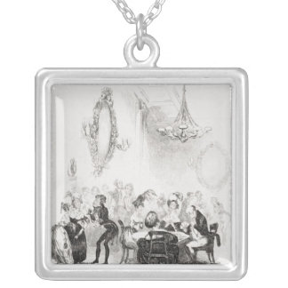 The card room at Bath Silver Plated Necklace