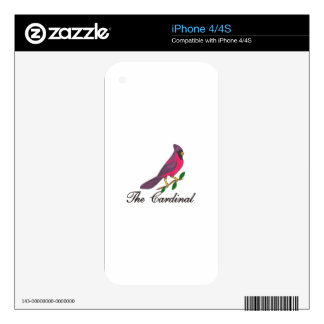 The Cardinal Decal For The iPhone 4