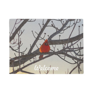 The Cardinal In The Morning Doormat
